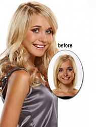 Capless Synthetic Mixed Blonde Color Long Straight Wavy Synthetic Wigs