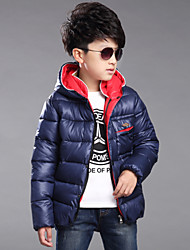 Boy's 120-170cm High  Down&Cotton Padded Thick Coat , Winter Long Sleeve/Hat/Zipper