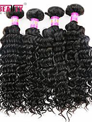 """4 pièces / lot 8 """"-30"""" malaisien cheveux vierges profonde ondes trames de cheveux humains 7a 100% cheveux remy malaisienne non transformés"""