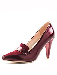 Черный / Бордовый - Женская обувь - На каждый день - Дерматин - На шпильке - На каблуках - Обувь на каблуках