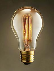 A19 Straight Wire 220V-240V E27 40W Tungsten Bulb Edison Modern Popular