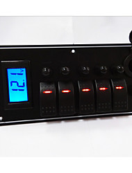 5 Panel Combination Switch with 12V Power Socket and Digital Voltmeter High Quality