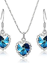 Women Casual Silver Plated / Cubic Zirconia Necklace / Earrings Sets