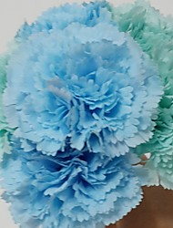 """Wedding Flowers Round Peonies Bouquets Wedding / Party/ Evening Blue / Almond Satin 7.09""""(Approx.18cm)"""