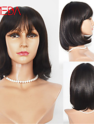Best Sell Dark Brown Human Hair Wig Cheap Machine Made Wig 12inch Fashion BOB Style Short Wig