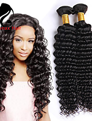 3Bundles cabelo humano profundo onda cabelo brasileiro 8-26inch cor natural virgem tece