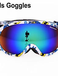 3-8 años de edad gafas de esquí infantil de snowboard esférica doble lente anti-vaho gafas de esquí M136
