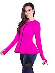 Regina Yoga® Per donna Senza maniche Corsa Top Traspirante Compressione Primavera Estate Autunno Inverno Abbigliamento sportivo Yoga