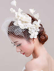 Women's Lace / Imitation Pearl / Flax / Net Headpiece - Wedding / Special Occasion Fascinators / Flowers 1 Piece