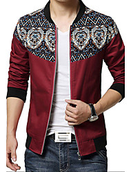 Men's Fashion European And American Style Flower Patchwork Slim Jacket