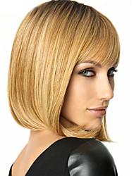 Côté sucré mode couleur de mélange blond longueur moyenne perruque de cheveux synthétiques