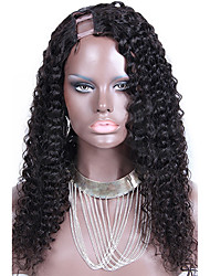 Brazilian Curly U Part Wigs With Right Part 1''X4'' Inch U Part Curly Virgin Human Hair Wig Gluelss Upart On Sale