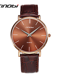 SINOBI мужские дизайнер-кварц часы коричневый кожаный чехол мужские моды автоматического кварцевые наручные часы наручные часы мужские