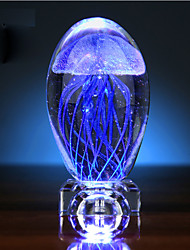Valentine'S Day Jellyfish Glow Ball Crystal Small Night Light Music Box Creative Gift Led Light Lamp