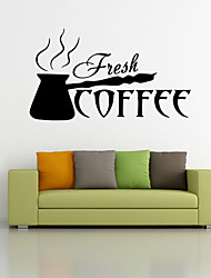 Wall Stickers Wall Decals Style Cook Coffee Waterproof Removable PVC Wall Stickers