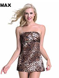 xfmax sexy niedlich Leopardenmuster Nachtwäsche Nachtwäsche-Wäschekleid Größe s-m