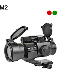 1X 30mm Tactical Red/Green Dot Laser Sight Scope