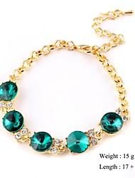 European Style Owl Shape Zircon Chain Bracelet Gold Plated