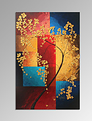 VISUAL STAR®Contemporary Lucky Tree Handmade Oil Painting for Wall Decor Ready to Hang