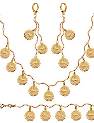 Popular Twelve Constellations 18K Gold Plated Necklace&Bracelets&earrings Engagement Unisex Good Gift Wholesale NB60075