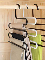 Multifunctional S Magic Wardrobe Iron Pants Hook Support Multi-layer Antiskid(Random Color)