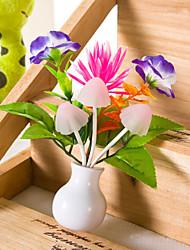 jour caricature cadeau vase champignon rêve table de lotus lampe coloré de lumière exploité la lumière de valentine conduit