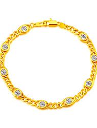Simple Design Crystal Bracelet Jewelry Women's/Men's Gifts New Trendy 18K Gold Plated Rhinestone Bracelets B40189
