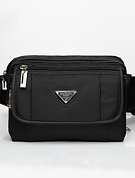 Men Oxford Cloth Casual Waist Bag - Black