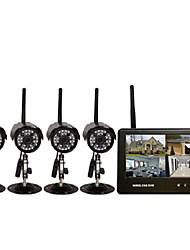 Four Wireless DVR Infrared Night Vision 7-inch Monitor Super Far Wireless Transmission