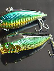 """2pcs pcs Druckknopf / Vibration Dunkelgrün 12.5g g/7/16 Unze,70mm mm/2-3/4"""" Zoll,Fester Kunststoff Spinnfischen"""