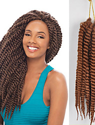blue / purple / Red / #1B / Strawberry Blonde / Light Auburn Box Braids Twist Braids Hair Extensions 12inc Kanekalon 12/1 Strand 70g gram