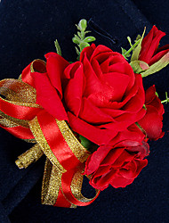 Red Rose Flower Brooch for Wedding Boutonnieres (10*14cm)