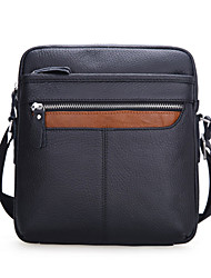 Sac à Bandoulière / Mobile Bag Phone - Noir - Besace - Cuir de Vache - Homme