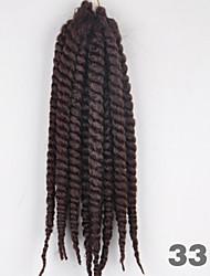 Dark Auburn Havana Twist Braids Hair Extensions 12-24inch Kanekalon 2 Strand 120g/pcs gram Hair Braids