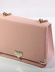 Women PU Baguette Shoulder Bag - Beige / Pink / Blue / Black