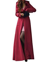 Women's Fashion Casual Long Sleeve Trench Coat