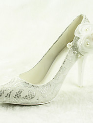 Women's Wedding Shoes Heels / Pointed Toe Heels Wedding / Dress Silver