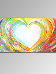 VISUAL STAR®Abstract Love Handmade Painting Modern Heart Shape Wall Art Ready to Hang