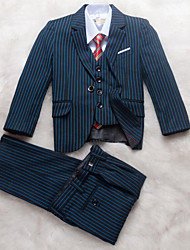 Blue Polyester Ring Bearer Suit - 5 Pieces
