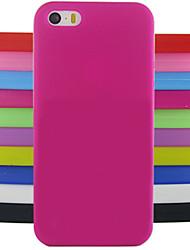 сплошной цвет желе силиконовый чехол шаблон для iPhone 5с (ассорти цветов)