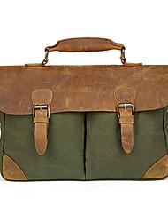 Unisex Cowhide / Canvas Sling Bag Shoulder Bag / Tote / Satchel / Sports & Leisure Bag - Blue / Green / Brown / Gray