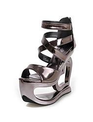 Women's latform Peep Toe / Open Toe Sandals Wedding / Office & Career / Party & Evening / Dress / Casual Silver / Gold