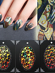 Fashion Nail Art cellophane Nail Art BlueSky glass paper laser Nail Art Decorations 3D Nail Tips Design