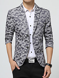Men's Fashion Printed High Quality Two-Buckle Slim Fit Suit