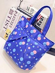 Women Oxford Cloth Shopper Tote - Multi-color