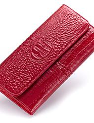 Women Cowhide Bi-fold Clutch / Evening Bag / Wallet / Card & ID Holder / Business Card Holder / Checkbook Wallet