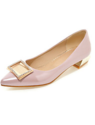 Women's Spring / Fall Heels Leatherette Casual Low Heel Others Pink / Silver / Gray