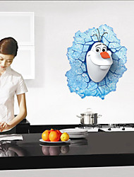 3D Cartoon Wall Stickers Olaf Wall Decals Child Wallpaper Art Decals Design House Decoration Home Decorative Decors