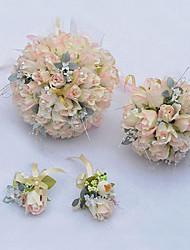 """Fleurs de mariage Rond Roses Composition Florale Mariage La Fête / soirée Soie 7.87""""(Env.20cm)"""