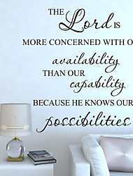 Wall Stickers Wall Decals Style The Lord Is More English Words & Quotes PVC Wall Stickers